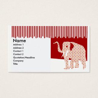 Cartão De Visitas Elefante bonito do circo do divertimento de