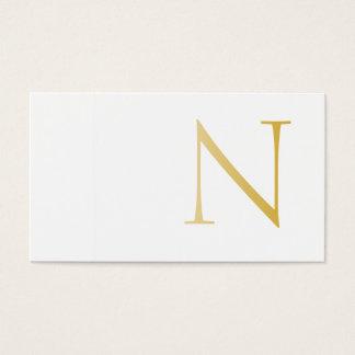 Cartão De Visitas Elegant and Modern (Golden)