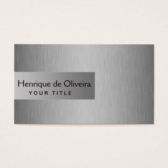Cartão De Visitas Elegant Silver