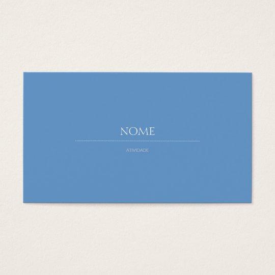 Cartão De Visitas Elegante 2c Azul
