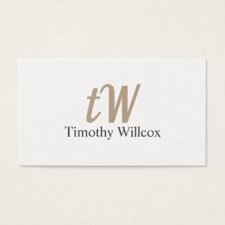 Cartão De Visitas Elegante blanco