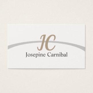 Cartão De Visitas Elegante blanco simple claro fresco