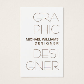 Cartão De Visitas Elegante Blanco Simple Diseño Gráfico Profesional