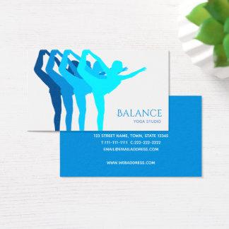 Cartão De Visitas Elegante calmo azul da silhueta do corpo do