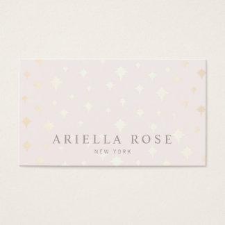 Cartão De Visitas Elegante cora o teste padrão de estrela Luxe