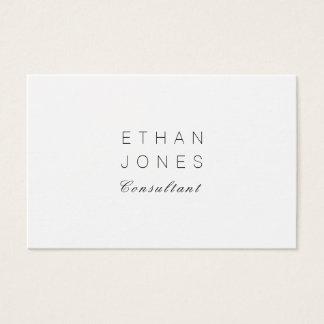 Cartão De Visitas Elegante liso minimalista do consultante