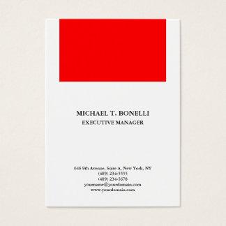 Cartão De Visitas Elegante liso minimalista profissional vermelho