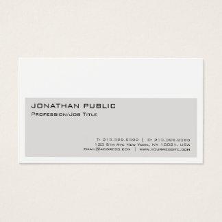 Cartão De Visitas Elegante moderno profissional branco bege simples