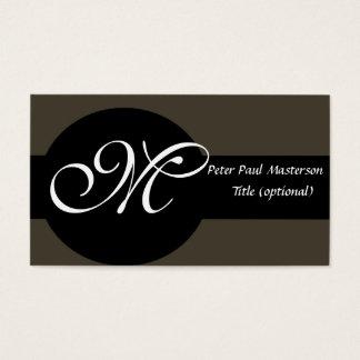 Cartão De Visitas Elegante Monogrammed elegante