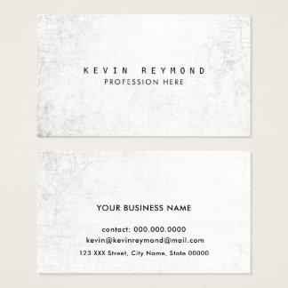 Cartão De Visitas elegante profissional branco envelhecido da