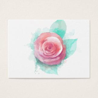 Cartão De Visitas Elegante profissional do rosa da aguarela