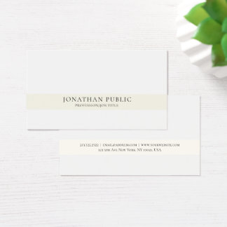 Cartão De Visitas Elegante simples profissional moderno criativo