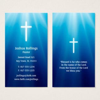 Cartão De Visitas Elegante transversal do pastor |