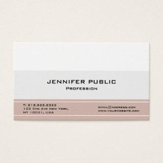 Cartão De Visitas Elegantes profissionais modernos criam seus