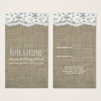 Cartão De Visitas Elegantes rústicos simples de serapilheira & de
