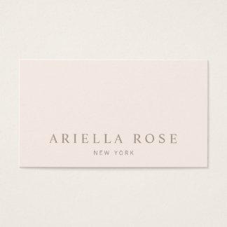 Cartão De Visitas Elegantes simples coram minimalista profissional