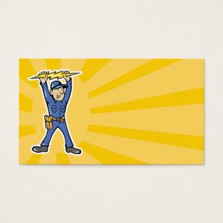 Cartão De Visitas Eletricista dos desenhos animados que guardara o