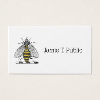 Cartão De Visitas Emblema heráldico formal C da brasão da abelha do