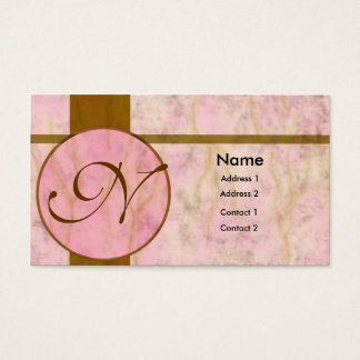 Cartão De Visitas Embutimento de mármore cor-de-rosa