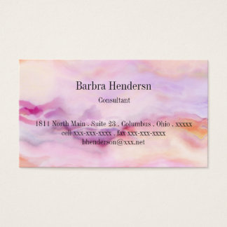 Cartão De Visitas Empalideça o rosa marmoreado