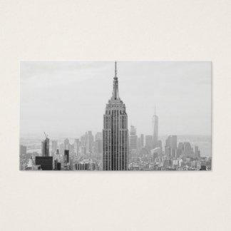 Cartão De Visitas Empire State Building preto e branco Manhattan