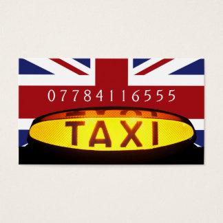 Cartão De Visitas Empresa britânica do táxi