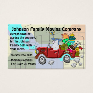 Cartão De Visitas Empresa de mudanças da família
