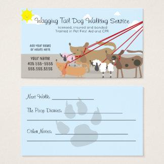 Cartão De Visitas Empresa de serviços de passeio do cão profissional