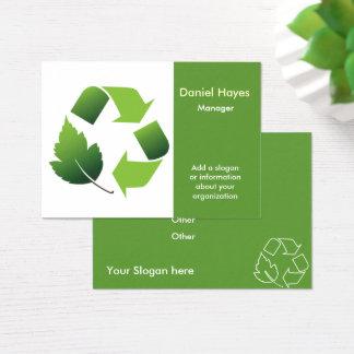 Cartão De Visitas empresa do reciclagem