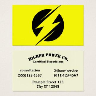 Cartão De Visitas Empresa elétrica - eletricista - parafuso