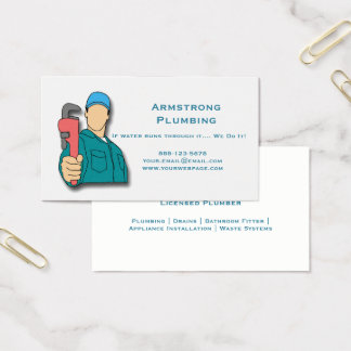 Cartão De Visitas Encanamento da chave de tubulação do canalizador