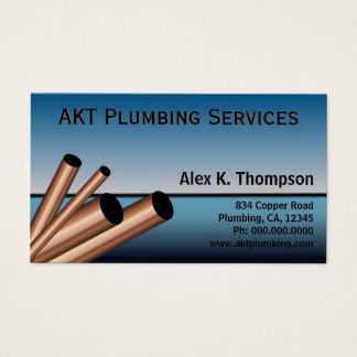 Cartão De Visitas Encanamento do canalizador das tubulações de aço