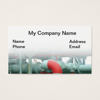 Cartão De Visitas Encanamento do óleo, da gasolina e do óleo para