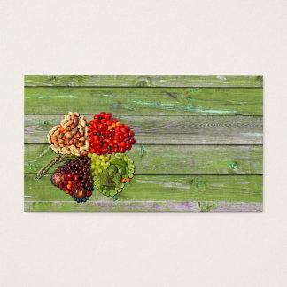 Cartão De Visitas Encanto afortunado dos vegetais e das frutas