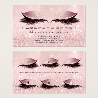 Cartão De Visitas Encanto do rosa cor-de-rosa dos chicotes do salão