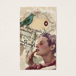 Cartão De Visitas encanto feminino do fashionista francês de Paris