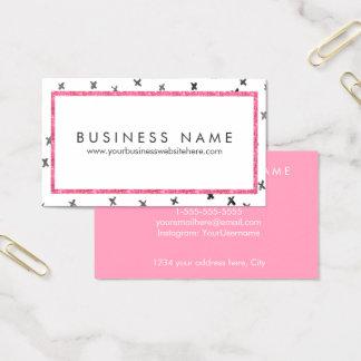 Cartão De Visitas Encanto moderno cor-de-rosa