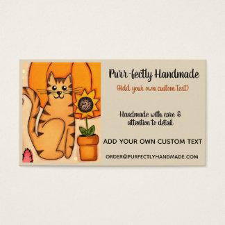 Cartão De Visitas Encanto rústico do gatinho do purr-fect
