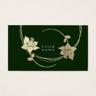 Cartão De Visitas Encanto verde de Cali do Lilac floral mais foxier