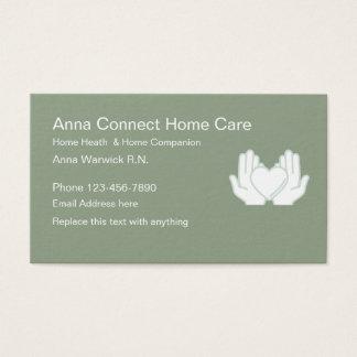 Cartão De Visitas Enfermeira diplomada das saúdes ao domicílio
