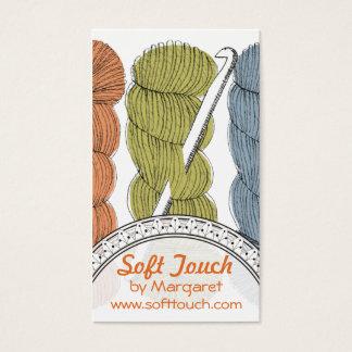 Cartão De Visitas Entregue o gancho de crochet torcido tirado do