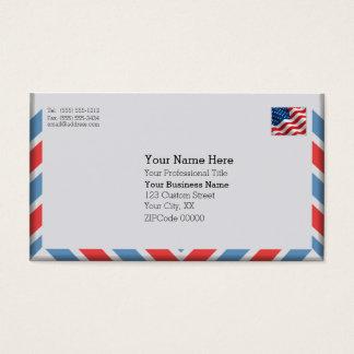 Cartão De Visitas Envelope importante do correio aéreo