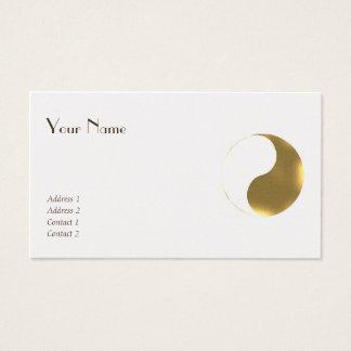 Cartão De Visitas Equilíbrio oriental - golden&white do grunge