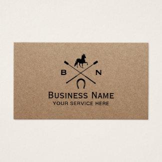 Cartão De Visitas Equitação eqüino Kraft rústico equestre