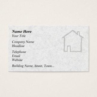 Cartão De Visitas Esboço da casa. Cinzento