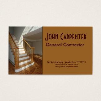 Cartão De Visitas Escadaria na casa da construção nova