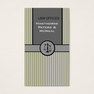 Cartão De Visitas Escala de justiça do advogado