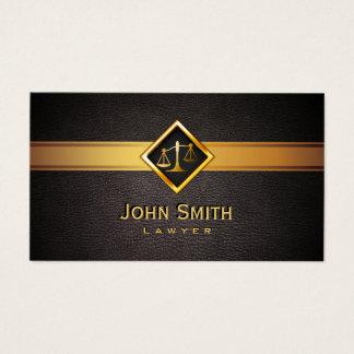 Cartão De Visitas Escala do ouro de Professionl do advogado do