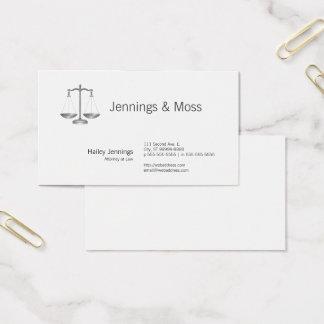 Cartão De Visitas Escalas de justiça