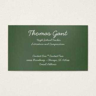 Cartão De Visitas Escrito em um quadro verde
